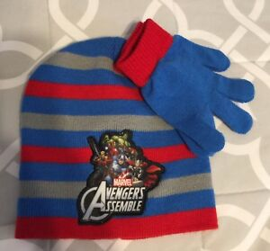 c8653611356b68 Avengers Hat & Gloves~Boys~One Size~NWT~Marvel~2 Pieces Set~Winter ...