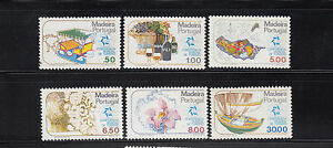 Portugal-Madeira-1980-Tourism-Sc-68-73-mint-never-hinged