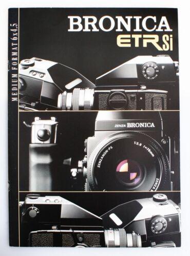 Bronica ETRSi Medium format 6x4.5 Camera Brochure - New UK Stock.