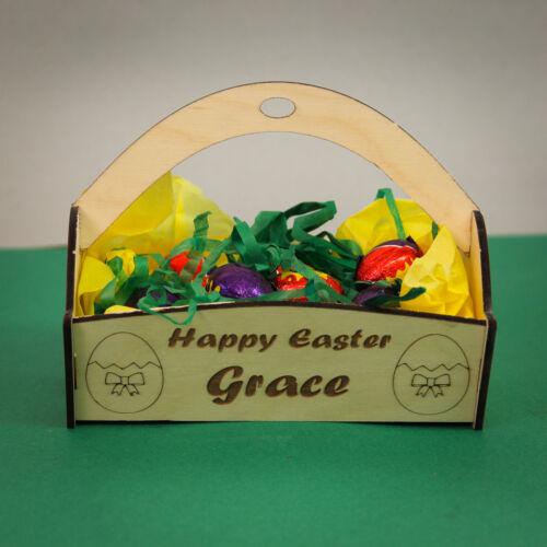 Personalised Wooden Easter Egg Basket Kit Blank Egg Hunt Craft Kit Small Size