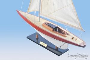 ENTERPRISE WOODEN MODEL YACHT SHIP BOAT SAILBOAT GIFT DECORATION 60CM