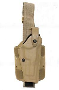 SAFARILAND Beretta 92 96 M9A1 w/rail Leg Holster Tan Double Strap 6004-73