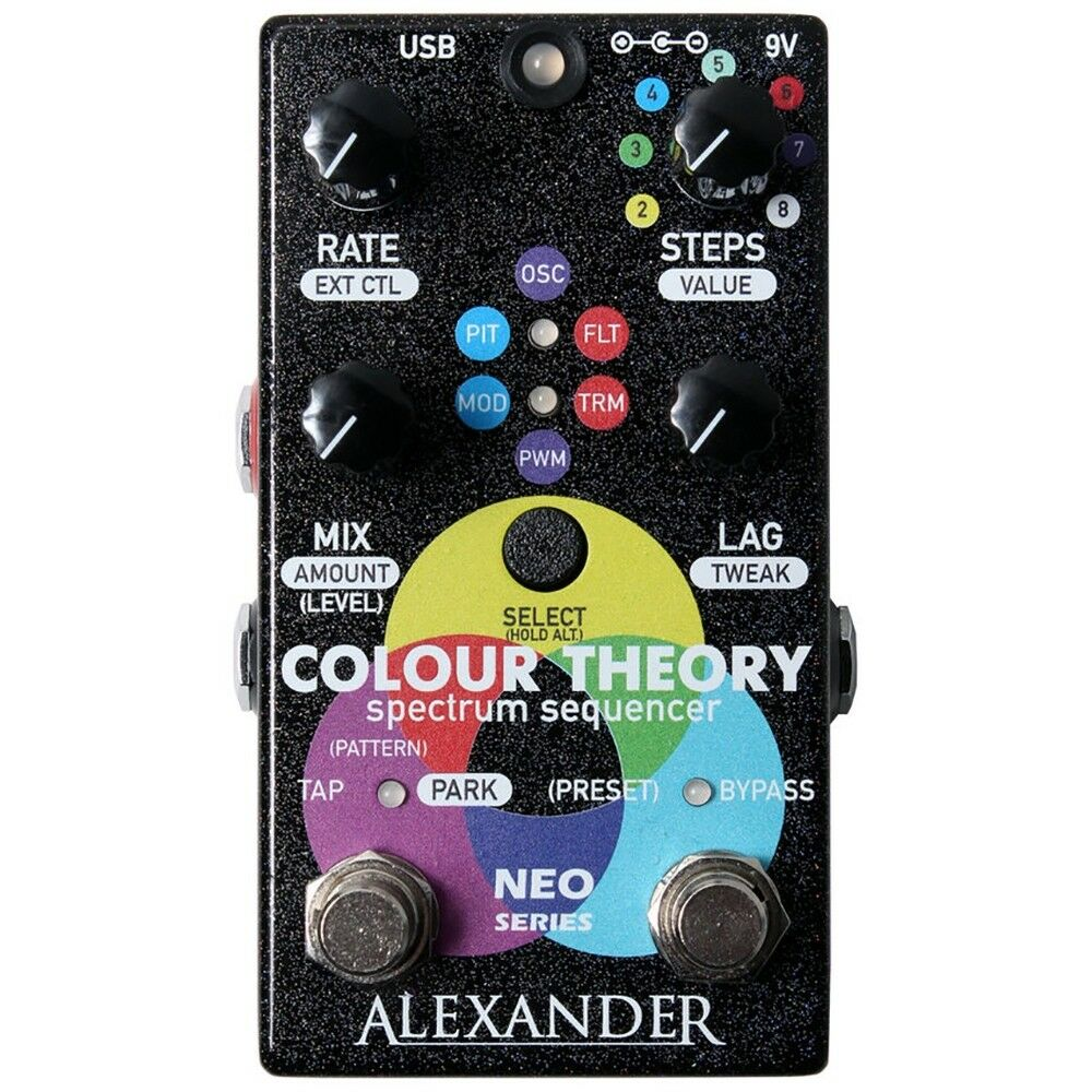 Alexander Pedals Colour Theory Spectrum Sequencer Guitar Effects Pedal w  MIDI