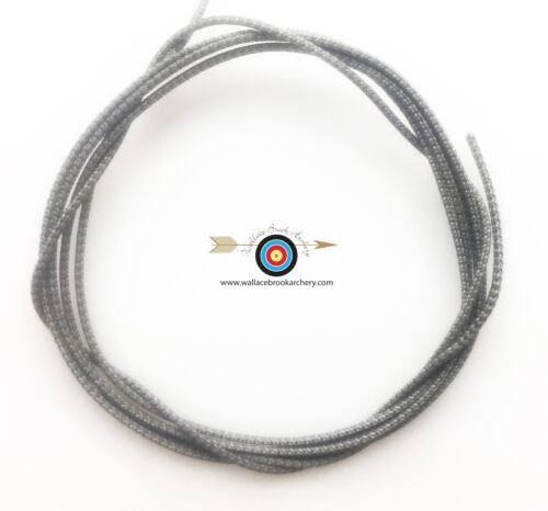 5/' BCY Silver//Black Speckled D Loop Rope Archery Bowstring Rope Drop Away