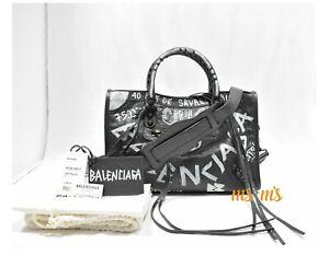 a7b658099f Image is loading NWT-Balenciaga-Classic-City-AJ-Small-Graffiti-Print-