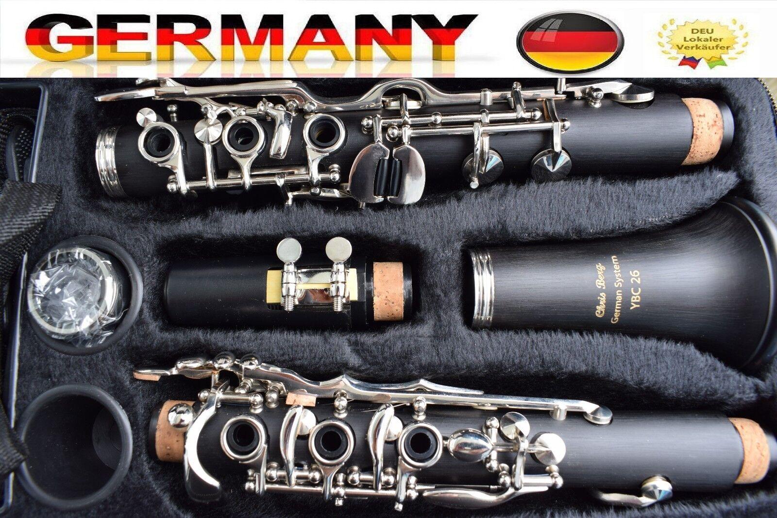 Klarinette Profi 26 Klappen German System  Clarinet 26 FL Clarinete 26 tec