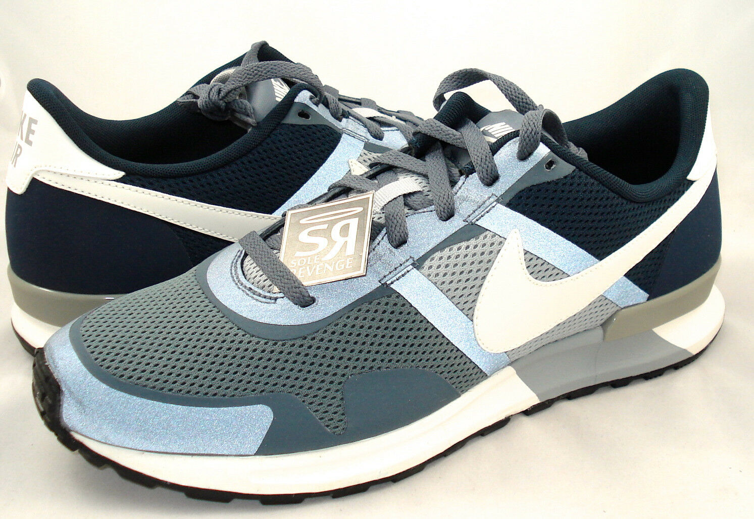 New 8 Nike Air Pegasus 83/30 Armory Slate Silver Navy Blue QS 599482-410 Shoes