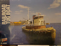 TUG BOAT - HARBOR CARFLOAT for RAILWAY BARGE WATERFRONT SCENE KIT Toys