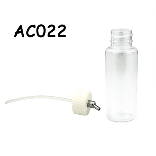 OPHIR Professional Plastic 80cc Airbrush Bottles Pot  for Dual Action Airbrushes