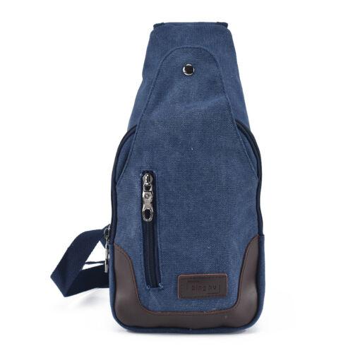 Canvas Military Hiking Messenger Travel Chest Pack Backpack Shoulder Sling Bags