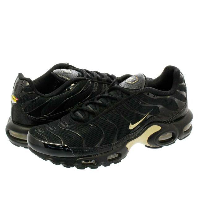 NEW Nike Air Max Plus TN BLACK/METALLIC GOLD 852630-022 US 8 EU 41 UK 7