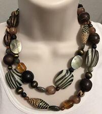 Premier Designs Jewelry ZOOLOGY Necklace 20405 Silver Animal Print 3-in-1 Zebra