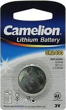 Camelion CR2430 3V Lithium Coin Cell Battery DL2430 K2430L ECR2430