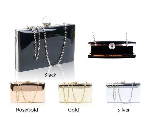 diamanti Clutch nuove sera nuziale con oro donne di rosa prom Borsa cerimonia partito Oro fibbia lucenti delle da argento Bag Bg1FX