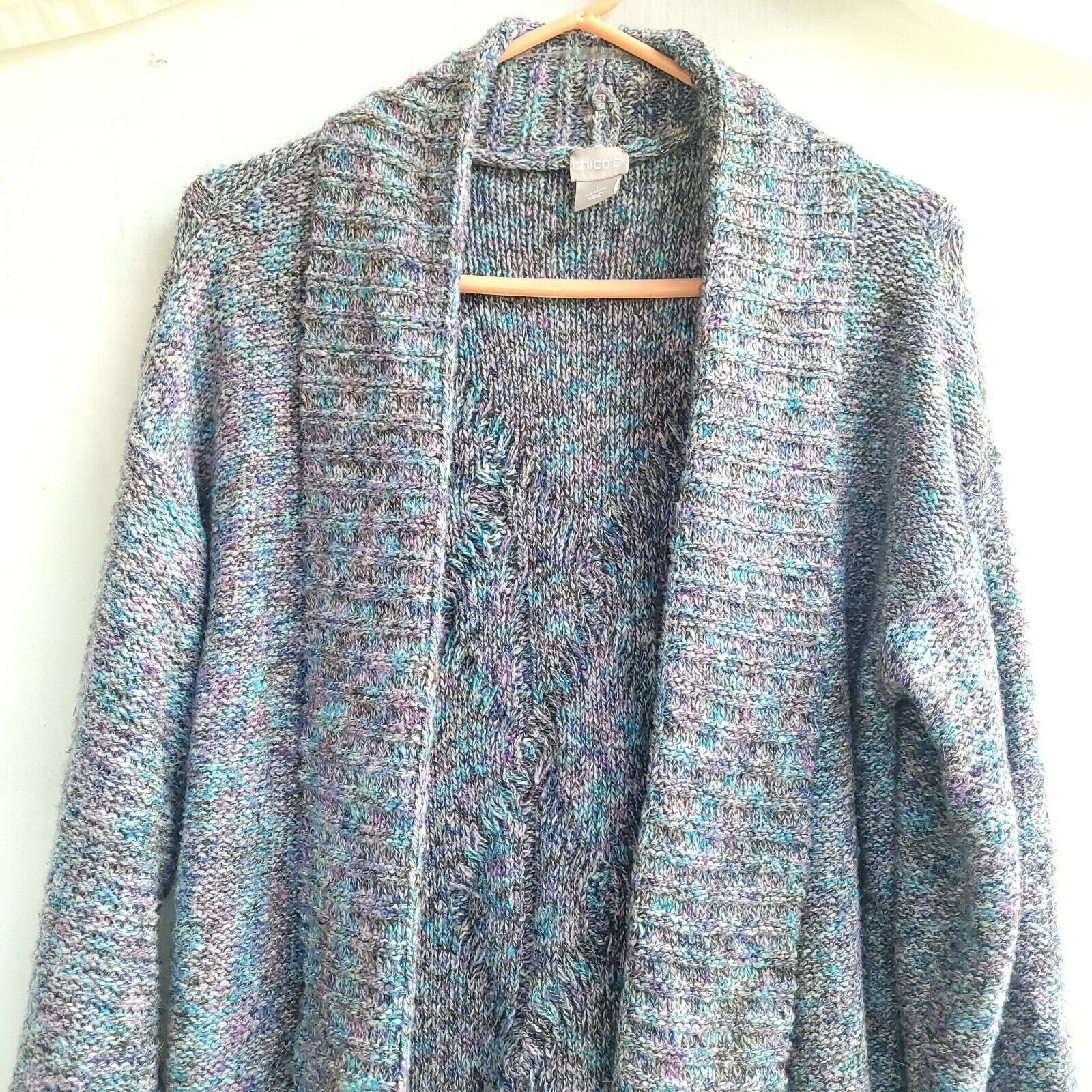 Chico's Chunky Knit Textured Sweater Open Front S… - image 8