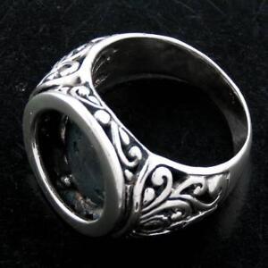 1.6cm Esfera 9gr Bali Hecho A Mano Plata De Ley 925 Talla 8 Anillo Abalorio Fine Jewelry