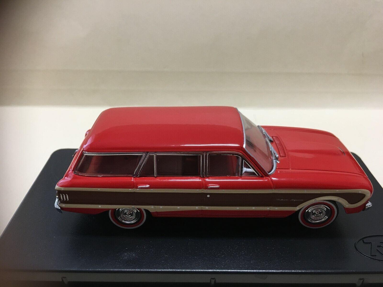 1 43 TRAX TR38D 1962 XL Falcon Squire Wagon Wagon Wagon - Waratah Red 127c84