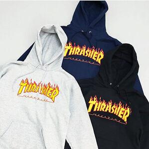 Men s hoodie sweater Hip-hop skateboard Flame Thrasher Women ... 518421745c