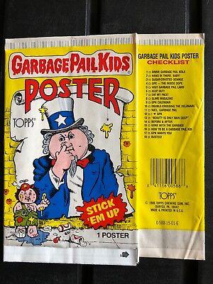 VINTAGE TOPPS GARBAGE PAIL KIDS 3-D WALL PLAK PHONY LISA FAKE WOOD FRAME 1986
