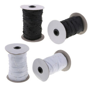 4 Yard Metal Snap Press Buttons Fastening Sewing Duvet Cover Tape Band White