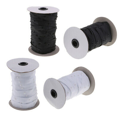 5 Yards Invisible Snap Buttons Tape Resin Fastener Sewing on Clothing DIY Craft