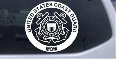 """3/"""" x 6/"""" American Flag Eagle Coast Guard Mom Decal Sticker ProSticker 914 One"""