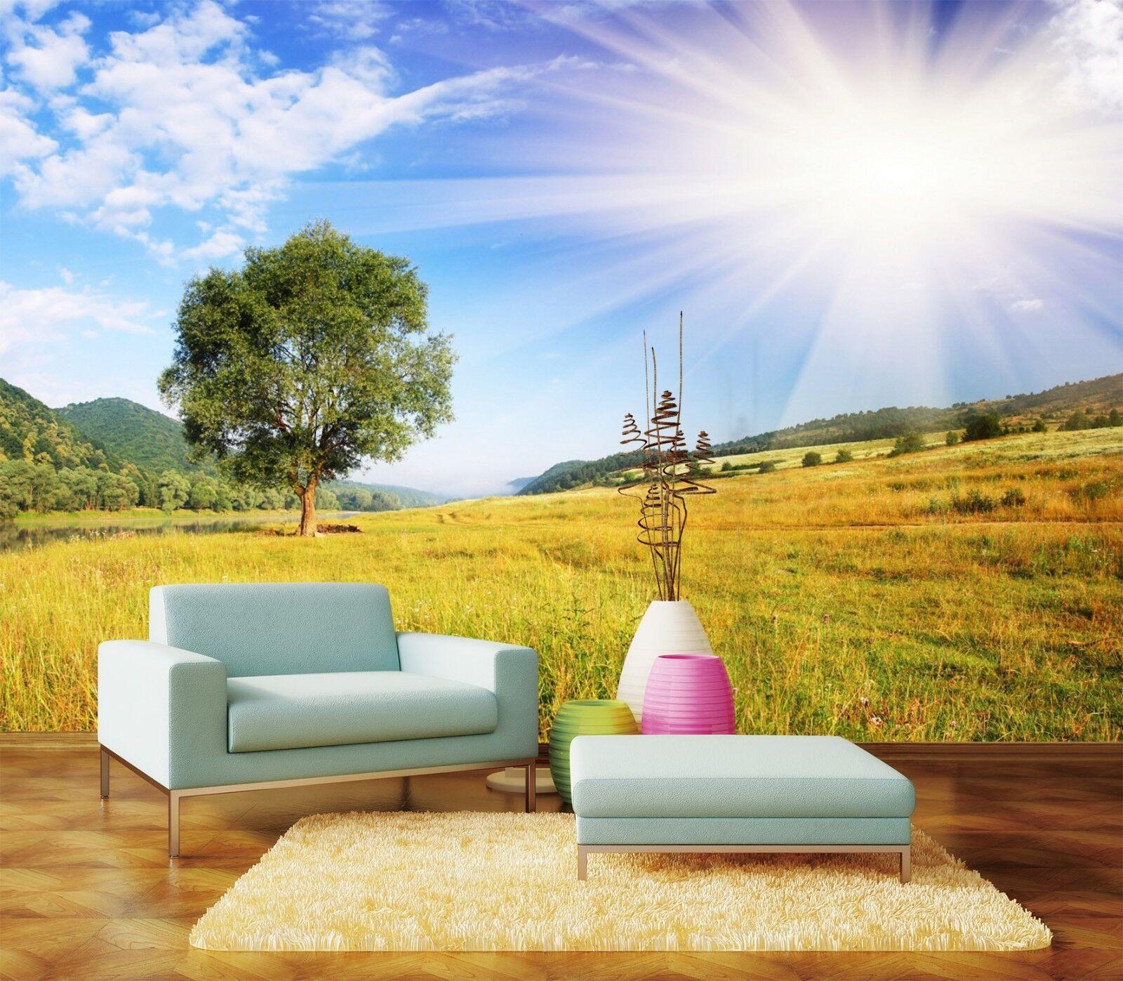3D Sonniges Gras Himmel 993 Tapete Wandgemälde Tapeten Bild Familie DE Lemon | Offizielle Webseite  | München  | Maßstab ist der Grundstein, Qualität ist Säulenbalken, Preis ist Leiter
