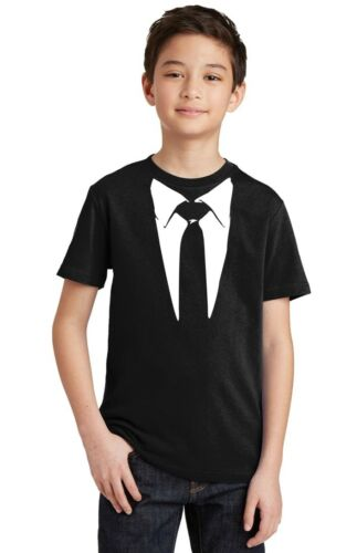 Tie and Suit White Tuxedo Youth T-shirt