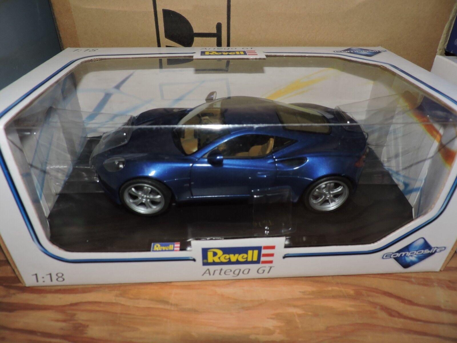 REVELL 1/18th SCALE DIE CAST BLUE ARTEGA GT # 09024