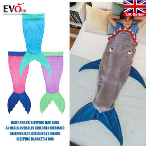 Shark Sleeping Bag baby shark sleeping bag kids animals overalls children mermaid