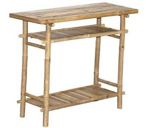 Bamboo Side Buffet Hall Display Table Eco Friendly