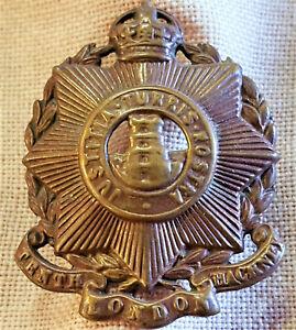 POST-WW1-ERA-BRITISH-ARMY-10th-LONDON-REGIMENT-HACKNEY-BN-UNIFORM-CAP-BADGE