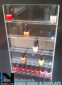 WALL-MOUNTED-NAIL-POLISH-ACRYLIC-DISPLAY-STAND-HOLDS-APPROX-40-TO-50-BOTTLES