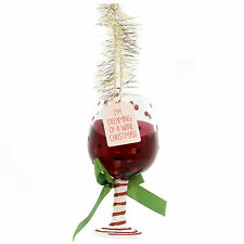 4054730 Wine Glass Dept 56 Holiday Ornament Christmas Bar