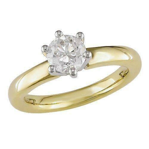 0.55Ct Genuine Diamond Solitaire Anniversary Ring 14Kt Solid Yellow gold SZ 4-12