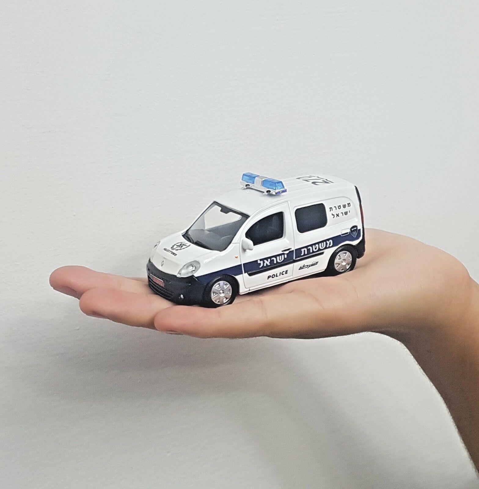 Seltene israel polizeiauto renault kangoo - skala 1 43 modell spielzeug - geschenk
