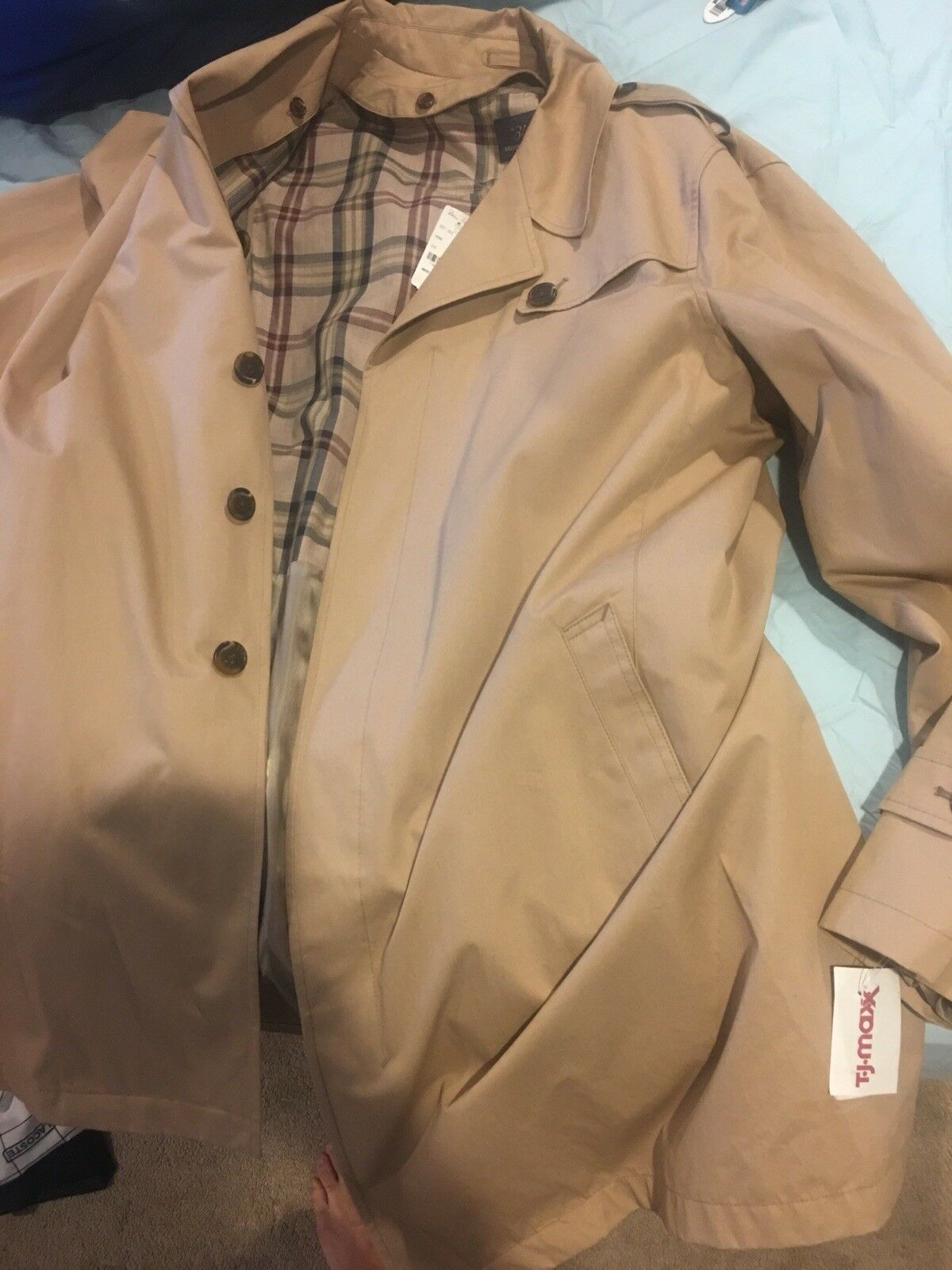 Brooks Bredhers Trench Coat Size 48r