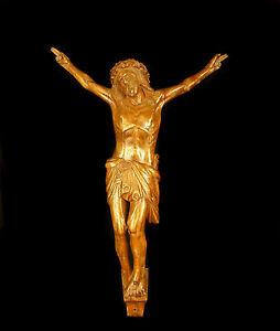Christ-du-XIX-eme-siecle-en-bois-sculpte-crucifix-Christus-Kruzifix-22cm-Jesus