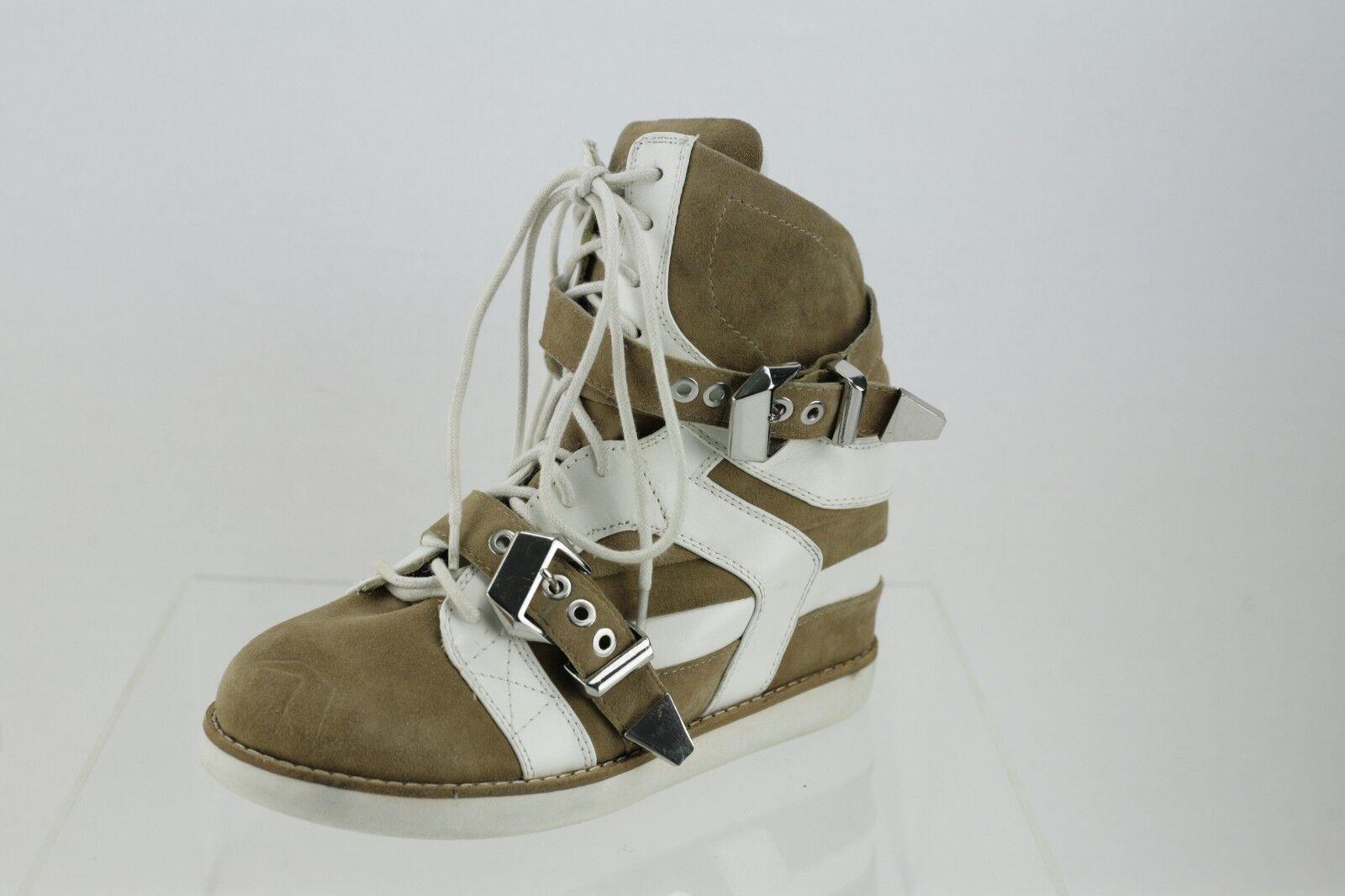 Jeffrey Campbel Beige Wedge Snekers Women's shoes Size 8 M NEW