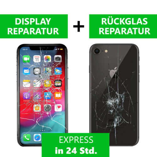 Apple iPhone 8 Plus DISPLAY RÜCKGLAS REPARATUR Backcover Glas Akkudeckel 8+
