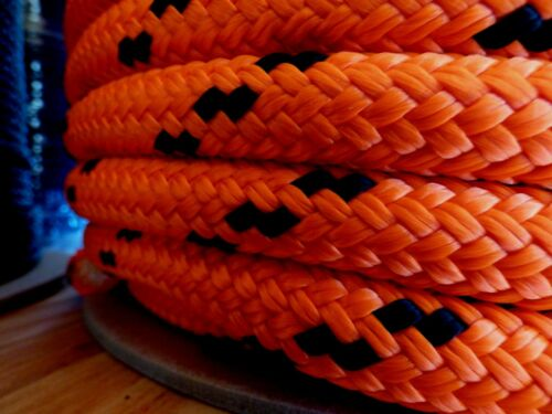 "5//8/"" x 100 ft Double Braid-Yacht Braid Polyester Rope.Made in USA."