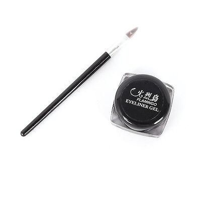 Black Beauty Cosmetic Waterproof Eye Liner Eyeliner Shadow Gel Makeup + Brush