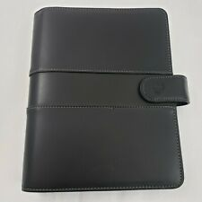 Black Faux Leather Classic Franklin Covey Planner Binder Organizer Magnetic Flap
