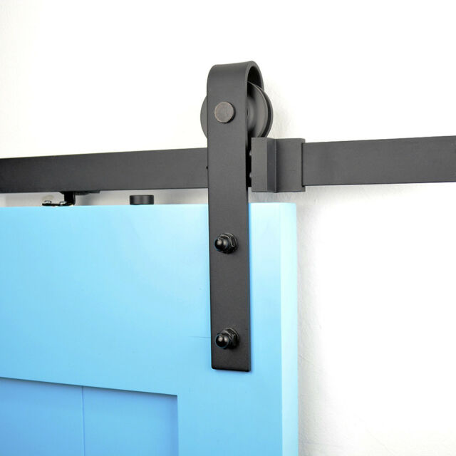 Diyhd 6ft Soft Close Rustic Black Sliding Barn Door Hardware Track