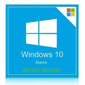 Microsoft Windows 10 Home 32/64 Bit Genuine License Key ...