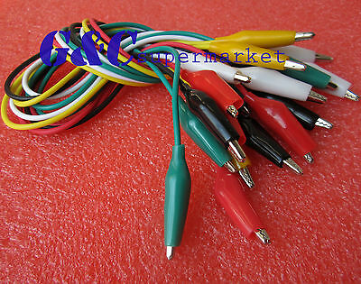 20pcs 50cm Double-ended Crocodile Clips Cable Alligator Clips testing wire M62