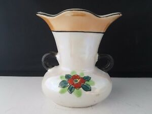 Lusterware-Japan-Vase-Urn-Hand-Painted-Floral-with-two-handles-4-1-2-034-h