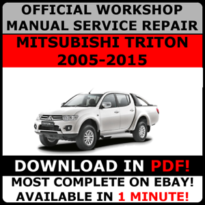 OFFICIAL-WORKSHOP-Service-Repair-MANUAL-for-MITSUBISHI-TRITON-2005-2015