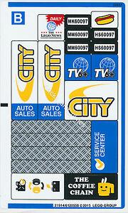 Lego City Aufkleber 2 Sticker Fur 60097 Stadtzentrum Mit