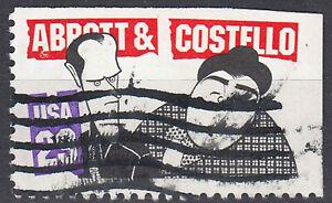 Estados unidos sello con sello 29c Albert and Costello comediante de marcas cuaderno/2583